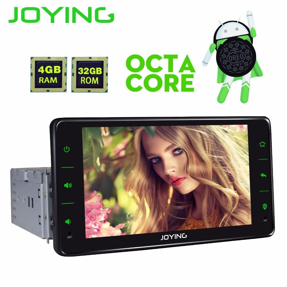 JOYING PX5 4 gb RAM OCTA CORE 1 DIN 6.2 ''écran tactile Android 8.0 voiture radio stéréo de tête gps magnétophone soutien caméra