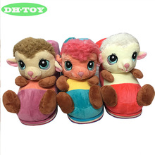 girls women home slippers cartoon sheep cotton slippers cute plush suede slippers warm winter shoes