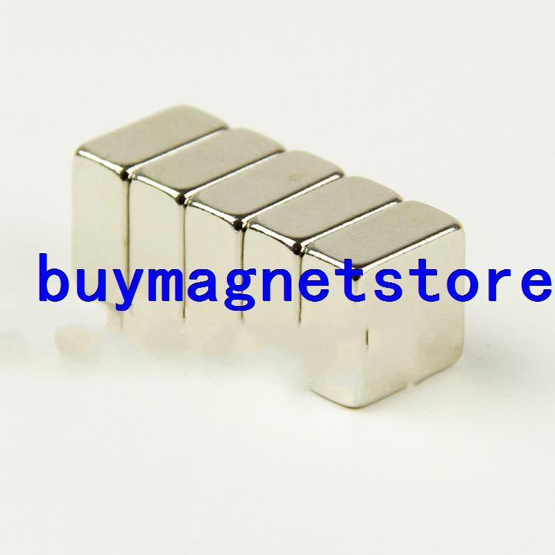 1a6693a5e 5 PCS Super Strong Bloco Cubóide Ímãs de Neodímio Rare Earth 10x10x5mm N35  10 10 5