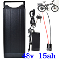 48В 15ач задняя стойка батарея для электровелосипеда 48В 15ач батарея для электровелосипеда с фонариком для 48В 1000 Вт 750 Вт 500 Вт мотор Бесплатная...