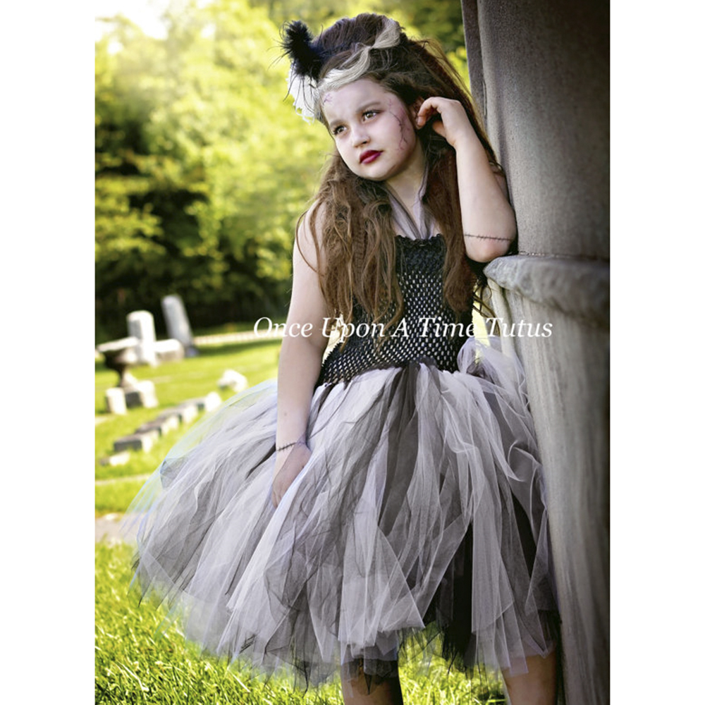 bride of tutu dress halloween costume little girls teenager dresses 5t 6 7 8 10 scary monster pageant gown pt123in dresses from mother u0026 kids