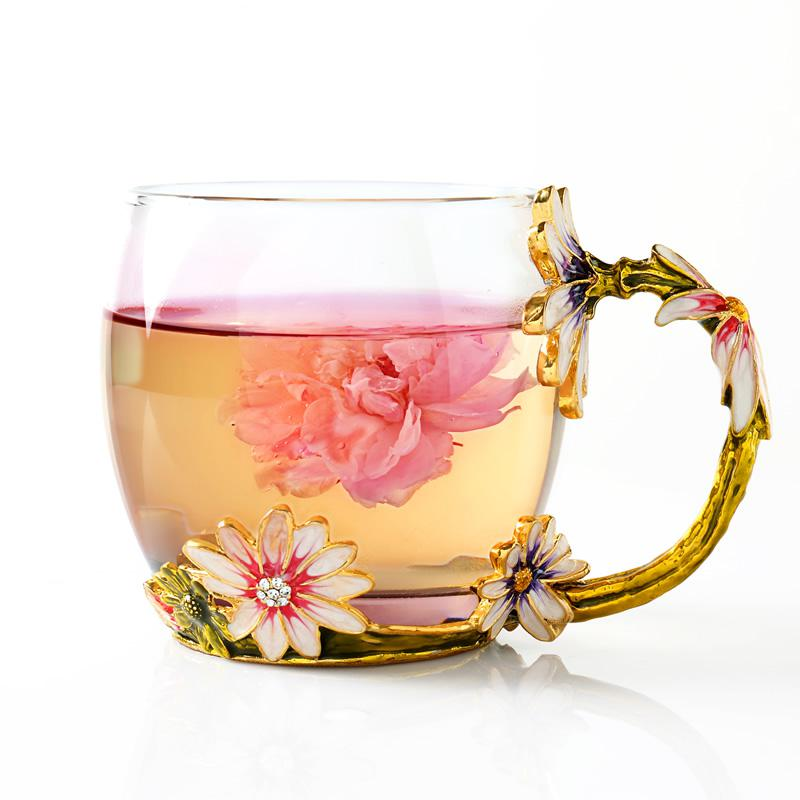 european cup office coffee. New Hand Painted European Glass Tea Water Cup Drinking Ware Glasses Home Office Coffee Milk Flower Cups Mug For Gift On Aliexpress.com | Alibaba C