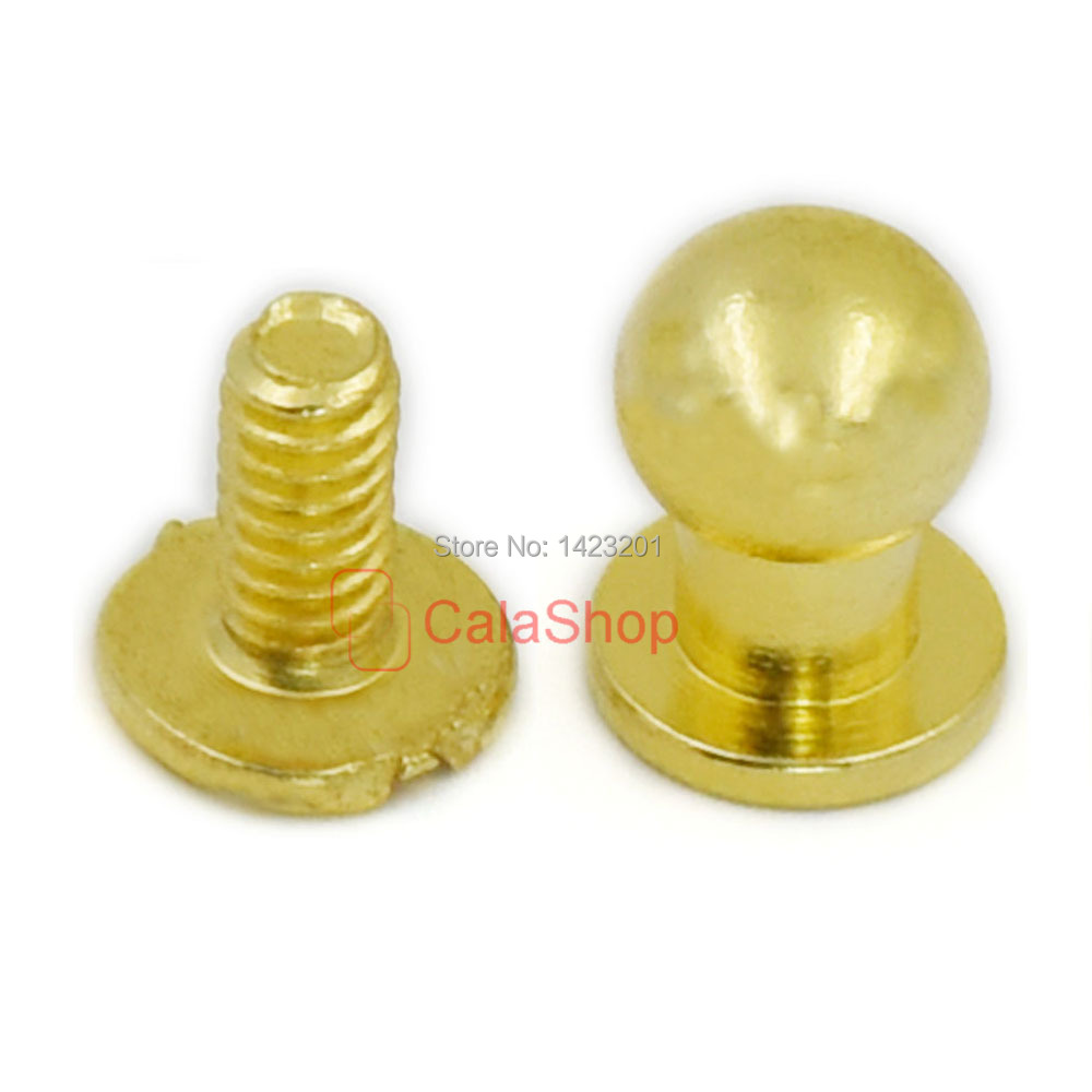 solid back belt button stud screw itm nail rivet arc brass leather