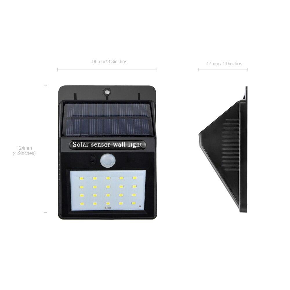 Garden Powered Street Sensor Waterproof Security Pir Light Led Lamp Solar Motion Outdoor Wall Night 20led 8PnOk0w