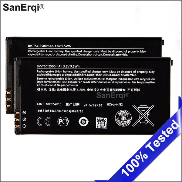 BV-T5C battery for Nokia Lumia 640 RM 1113 1073 Dual 1077 BVT5C 2500mAh SanErqiBV-T5C battery for Nokia Lumia 640 RM 1113 1073 Dual 1077 BVT5C 2500mAh SanErqi