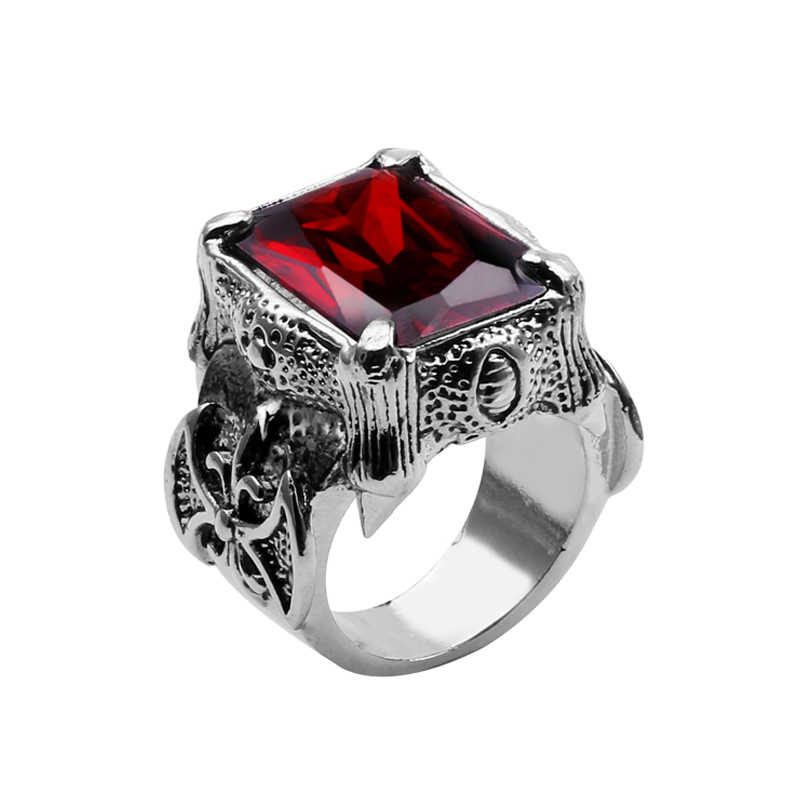 2018 New Retro Classic Luxury Rings Red Austrian Crystal Romantic Handmade Fashion Jewelry For Man Women finger ring size 7-12