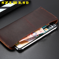 Genuine Leather Wallet Case Ulefone S11 Cases Phone bag For Huawei P30 Pro lite Cover Retro card holder HomTom H5 AGM A9