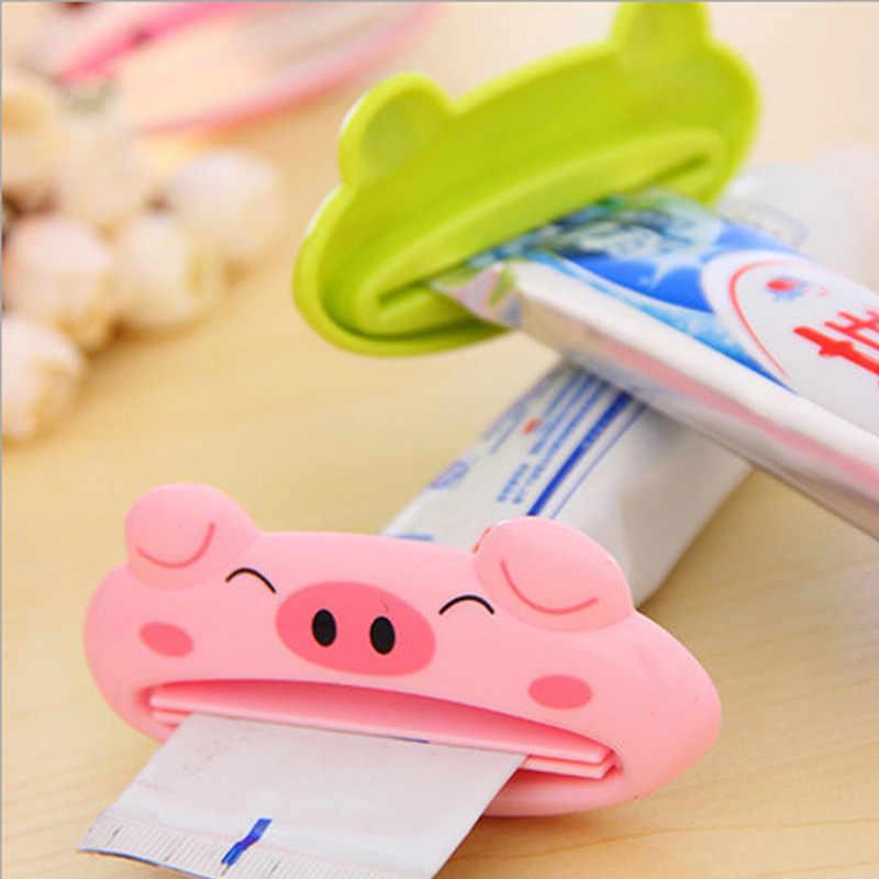 1 sztuk Mrosaa tworzywo ABS wielofunkcyjny śliczne zwierząt pasta do zębów pasta do zębów domu łazienka rury płyn do demakijażu dozownik pasty do zębów