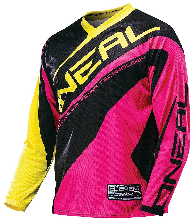 Prix pour Cyclisme jersey ciclismo motocross oneal elemento racewear femmes rosa/amarelo jersey-x-grande martin mx vtt jersey moto cruz mo