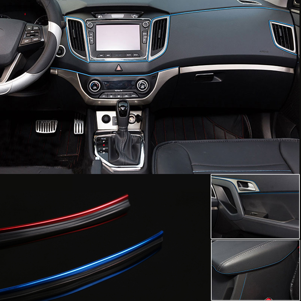 AUTO ACCESSORIES CAR Interior Gap Decorative Sliver Line  Shiny 5M Universal