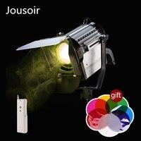 Spot Light 150W LED Wireless Dimmable Bi color Spotlight Studio Fresnel LED Light 3200/5500K for photography Lighting CD50