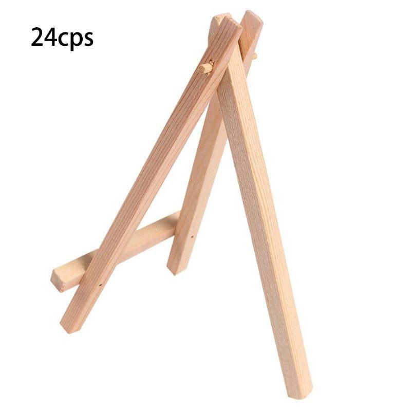 24pcs Mini Wooden Artist Easel Triangle Wedding Table Stand Display Holder - 15 x 8 cm24pcs Mini Wooden Artist Easel Triangle Wedding Table Stand Display Holder - 15 x 8 cm