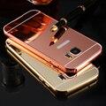 Kisscass tampa do espelho de luxo metal de alumínio + acrílico case para samsung galaxy s5 S6 S7 Borda S4 Nota 5 4 3 2 A5000 A7000 J5 J7 E5