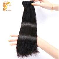 AOSUN HAIR Brazilian Double Drawn Fumi Bone Straight Hair Extensions 8 20 Inch 100% Remy Human Hair Bundles Natural Color 1 PCS