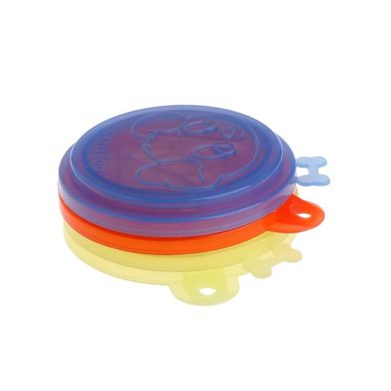 New New Pet Food Can Cover Silicone Storage Cap Dog Cat Reusable Color Random Fresh Lid