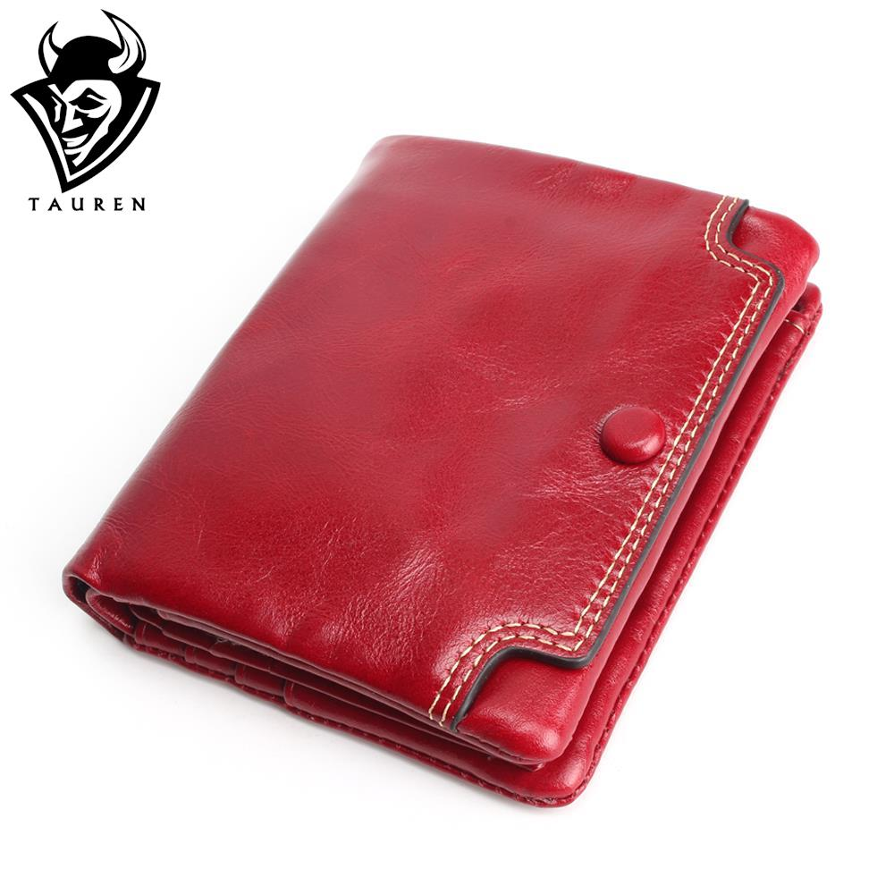 Small Oil Leather Wallet New TAUREN High Quality Genuine Leather Women Mini Wallet Coin Purse Coin Credit Card Photo Holder new lady women leather wallet zipper mini purse credit card holder bags simple style handbag party as gift high quality 52