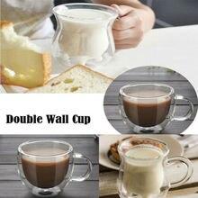 ГОРЯЧАЯ двойными стенками чашки кофе стекло чай Кружка Изолированные Кружки эспрессо чашки вина пива чашки для дома и офиса