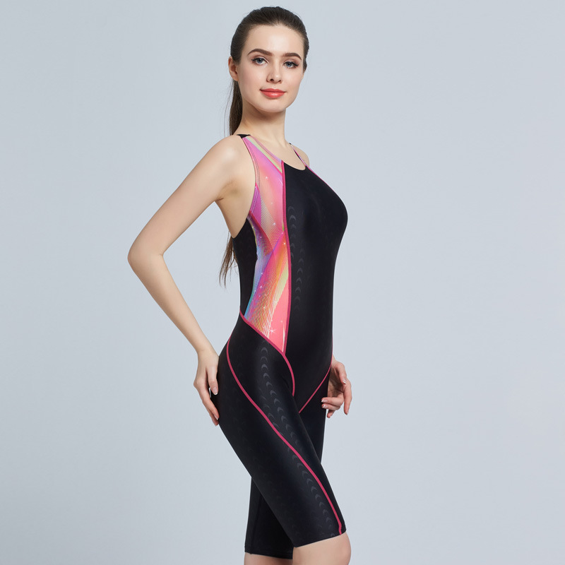 561c5a1c75a womens professional swimwear one piece swimsuit sharkskin knee Length  competition racing swimwear Ladies bathing suits 6005-in Body Suits from  Sports ...