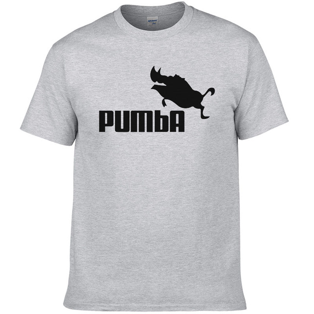 2016 funny tee cute t shirts homme Pumba men short sleeves cotton tops cool tshirt summer jersey costume t-shirt #062 2