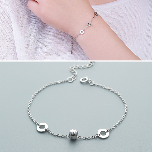 Factory Direct Sales S925 Silver Bracelet Female Fresh Fresh Stone Bracelet
