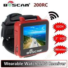 Boscam FPV Watch 200RC 5.8GHz 32CH HD 960*240 2″ TFT Monitor Wireless Receiver For DIY RC Camera helicopter quadcopter