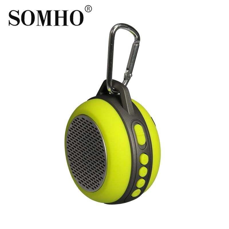 Original SOMHO S303 Mini Speaker port til Bluetooth Speaker for Bicycle altavoz portatil outdoor speaker muse m 312 btw 2w cubo color blanco altavoz port