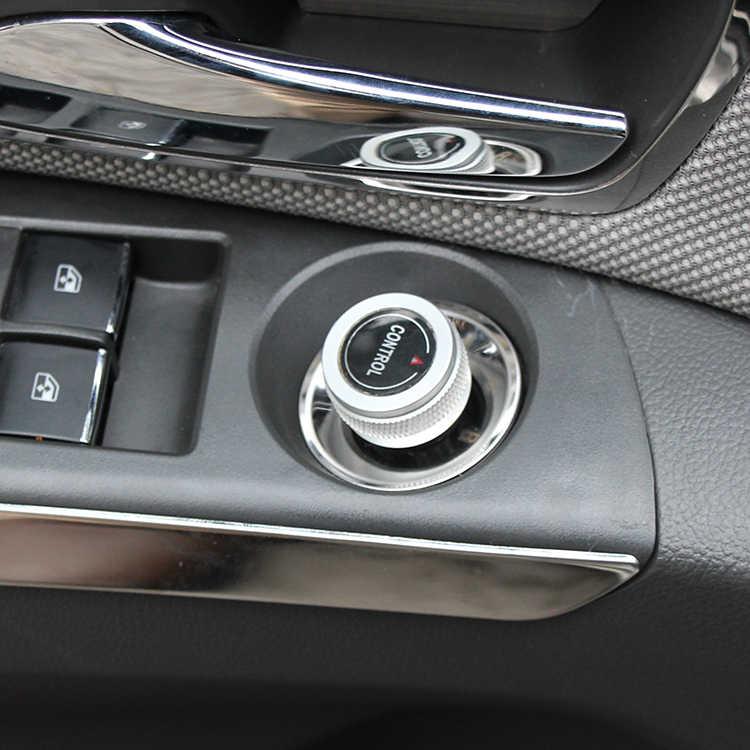Perilla de espejo retrovisor de acero inoxidable adhesivo circular decorativo para Chevrolet Cruze Malibu AVEO Opel mokka ASTRA J Insignia Coche