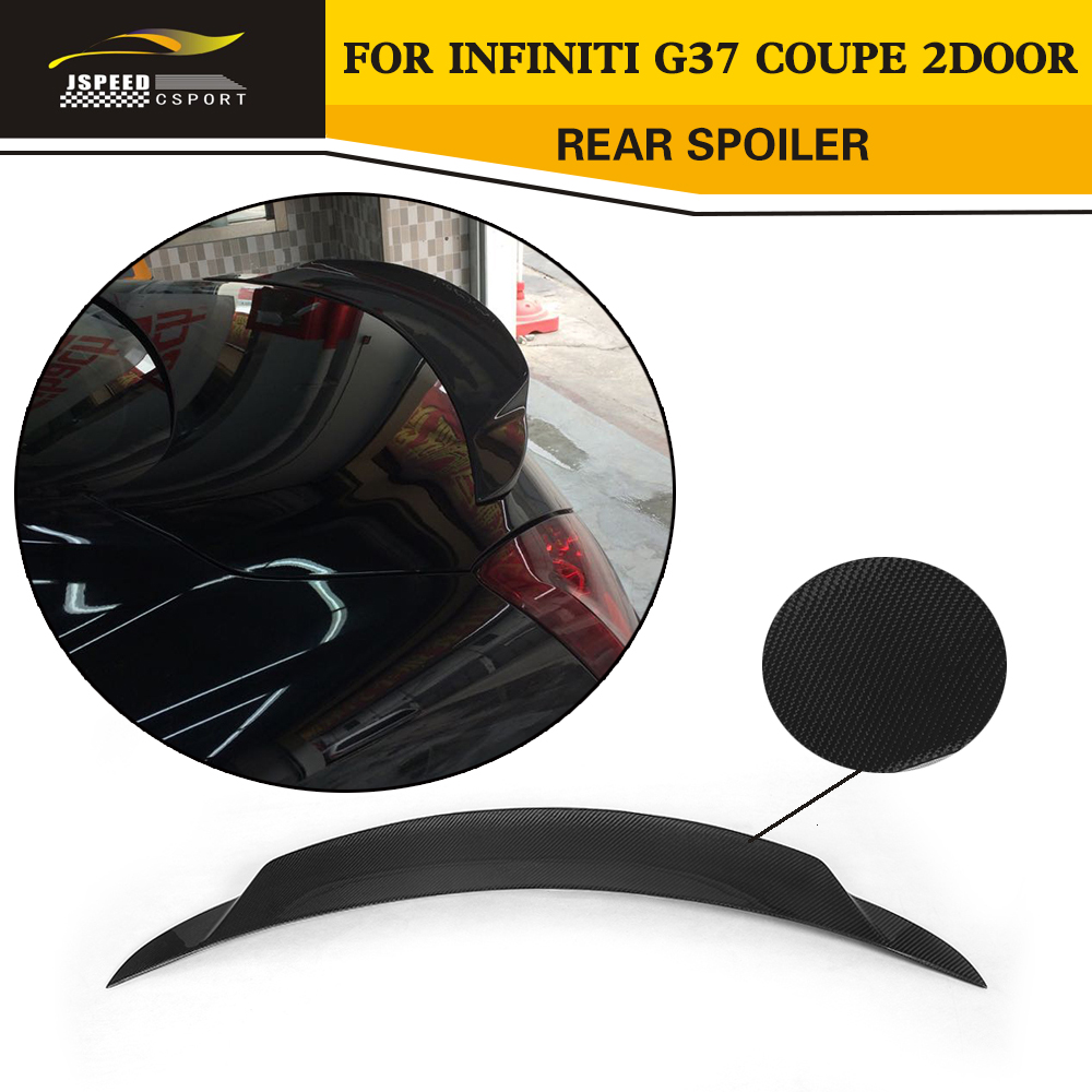 Car styling carbon fiber rear wing boot lip spoiler for infiniti g37 coupe 2door 2009