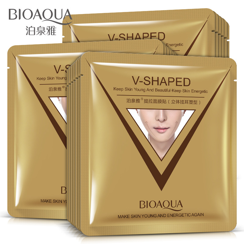 BIOAQUA Firming Lift Skin Face Mask Chin V Shaped Collagen Sheet Face Mask Anti Wrinkle Anti Aging Reduce Fine Lines Skin Care