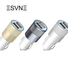 Matel ESVNE Micro USB Зарядное Устройство Dual USB Порт Автомобильное Зарядное Устройство Для iPhone Samsung S5 Xiaomi Мобильный Телефон USB Телефон Автомобильное Зарядное Устройство Адаптер