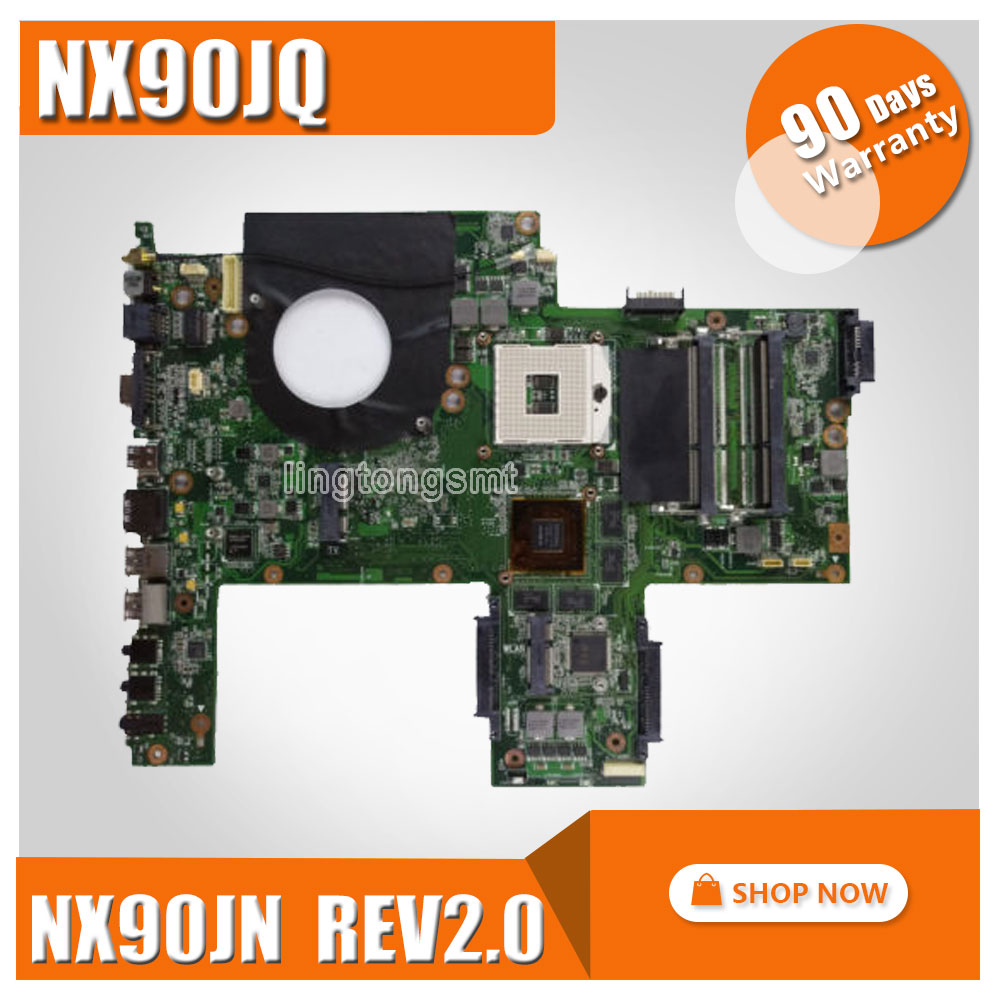 For ASUS NX90JQ NX90JN Motherboard NX90JN Rev2.0 Mainboard HM55 Rev2.0 100% tested k75de motherboard qml70 la8371p rev 1a mainboard hd 7670 1g socket fs1 100% test