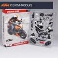 Maisto ktm690 modelo da motocicleta kits de construção 1/12 brinquedo de presente modelo de montagem da motocicleta motocicleta motocicleta crianças brinquedos crianças brinquedos