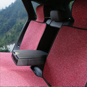 Image 2 - Artificial linen Auto Seat Cushion fit Most Cars Truck Suv or Van / 2 piece Front Car Seat Cover or 1 set back seat covers mat