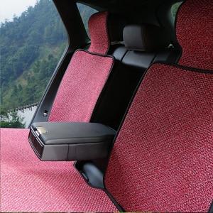 Image 2 - Coussin de siège Auto en lin artificiel adapté à la plupart des voitures camion Suv ou Van / 2 pièces housse de siège de voiture avant ou 1 siège arrière