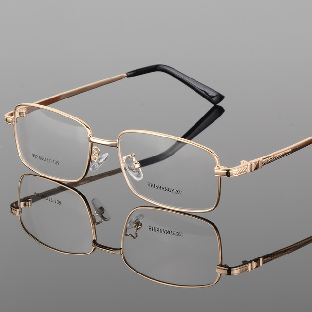4f99e3b3ec Vazrobe IP Plating Men s Eyeglasses Frame Gold Prescription Spectacles Full  Rim Slim Eyeglass Frames Eyewear with