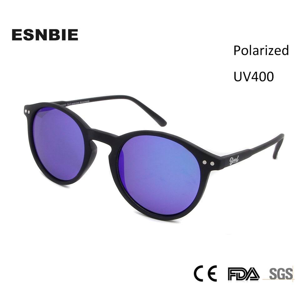 ESNBIE Mulheres Retro Rodada óculos de Sol Revestimento de Espelho Óculos  De Sol Para Homens Polarizados Azul Círculo Eyewear Oculos de sol Feminino 1e60014050