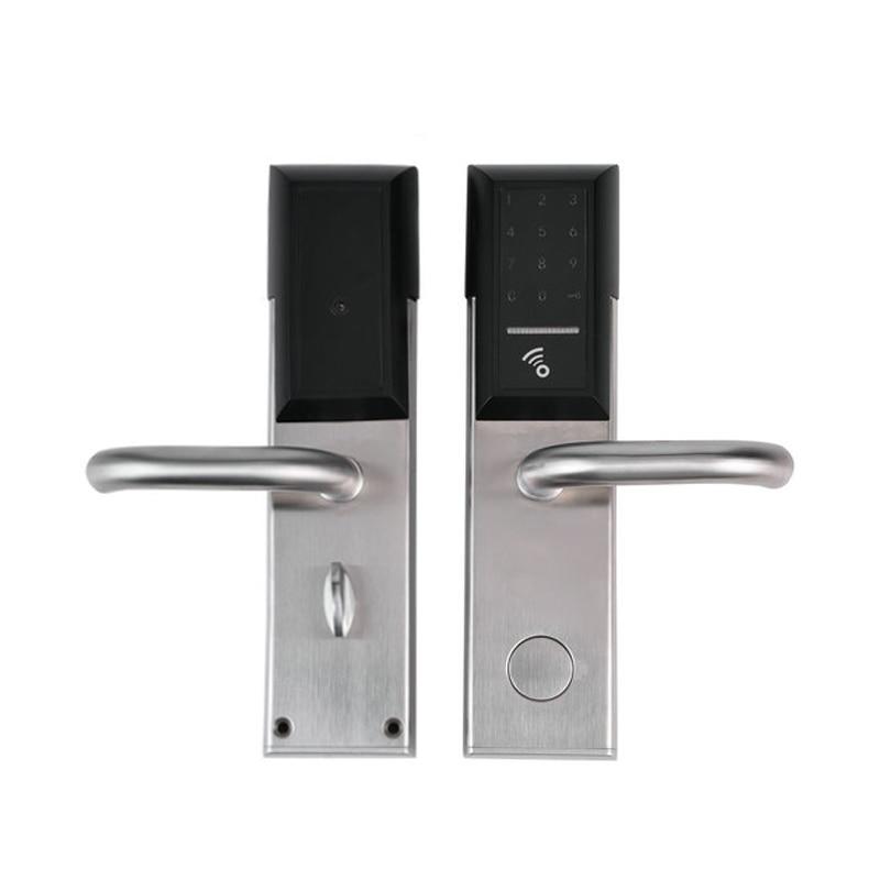 Smartphone Bluetooth serrure de porte APP combinaison, Code écran tactile clavier mot de passe serrure de porte électronique intelligente lk8810AP