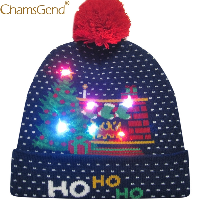 Apparel Accessories Women Led Christmas Knitted Beanies Hat 2018 New Winter Boys Festival Xmas Party Pompom Led Hats For Men Girls Led Light-up Caps