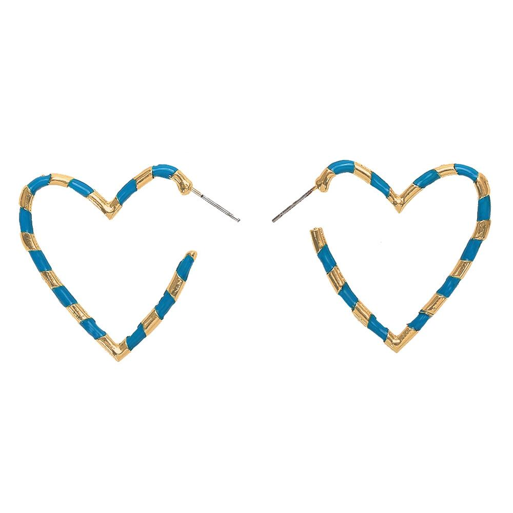 Mixed Color Heart Earrings 2019 New Trendy Jewelry Simple pendientes mujer in Drop Earrings from Jewelry Accessories