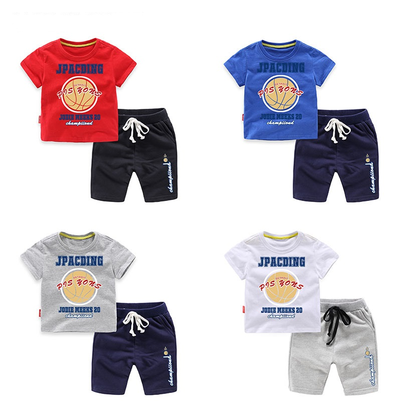 Summer Cotton Baby Boys 2-Piece Sets Children Clothing Sets Kids Sets Shorts + T-Shirts For 1-8 Years Old 2016 spiderman children clothing kids summer little baby cotton clothing sets t shirts and shorts casual fashional dress 0440