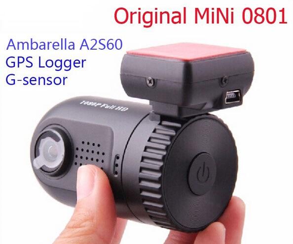 Free Shipping Original Mini 0801 Ambarella A2S60 Full HD 1080P GPS Car DVR Camera Recorder Dash