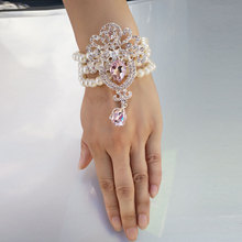 Prom Bracelets Wrist Corsage Flower Bracelet For Bridesmaids Beading Pearls Bridesmaid Accessories Wedding Girls