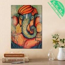 1 Шт. Ганеша  Господь Бог Индии HD Печатных Холст Wall Art Плакаты и Принты Постер Живопись