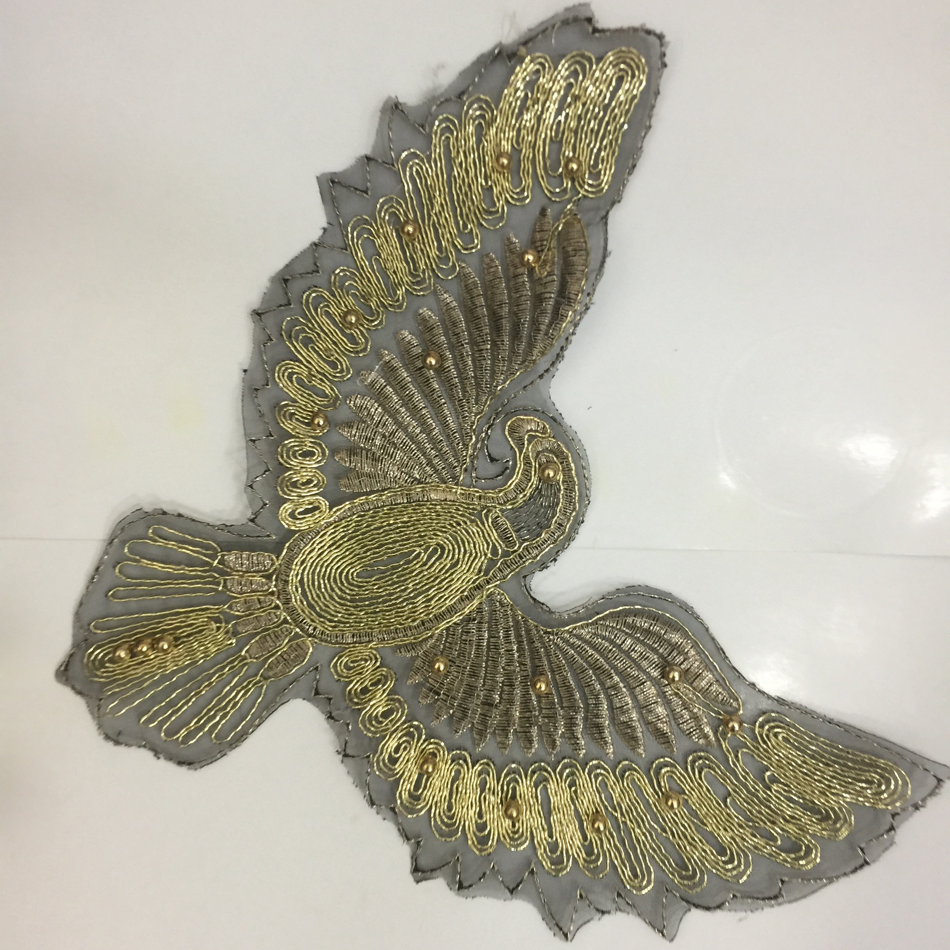 Manufacturers Hot Beads Embroidery With Beads Eagle Sequins Cloth Sticker Fashion Clothes Patches Clothing Accessories