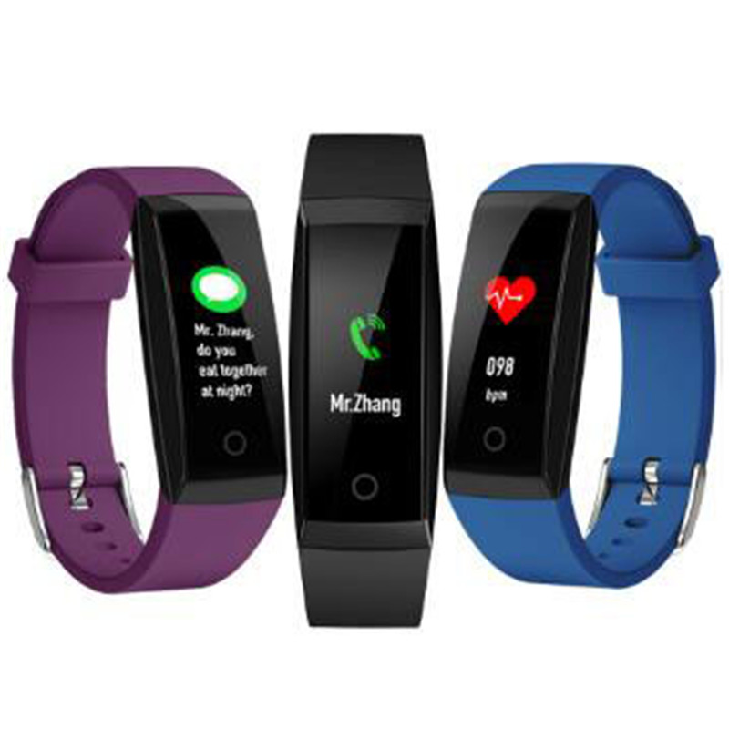 W8 Color Watch Smart Wristband reloj inteligente smart Bracelet Heart Rate Monitor Fitness Tracker Smart band PK mi band 3
