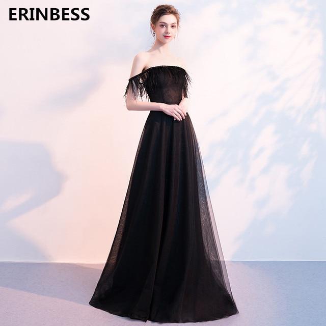 7abd954910e Vestido De fiesta Sexy sin tirantes vestidos De noche Vestido largo 2019  Robe De Soiree negro