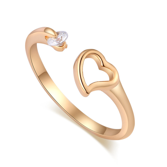 j17C1 New Design double love heart rings New fashion jewelry 18k