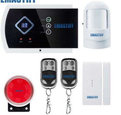 Voice prompt Wireless/Wired SMS GSM Alarm System Home auto security Systems with PIR/Door Alarm Sensor APP control device kit gsm alarm systems kit remote control voice prompt wireless door sensor lcd display siren kit security alarm for home office