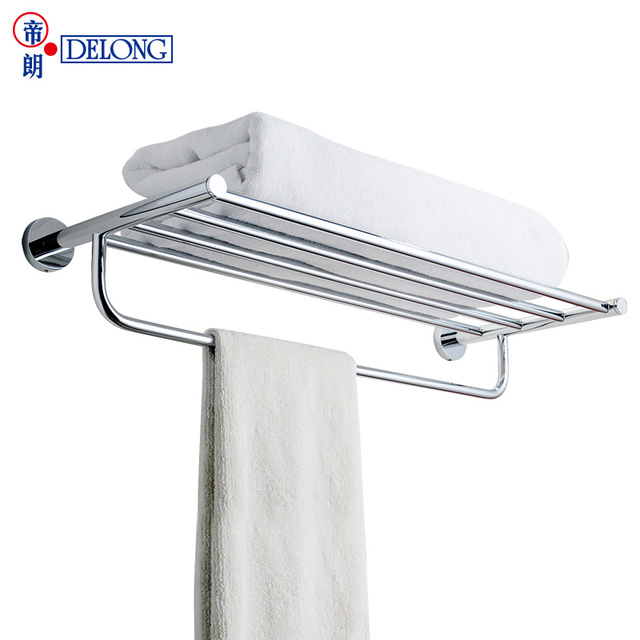 Delong Bathroom Full Copper Towel Rack Double Towel Rack Bathroom Bathroom Accessories Wall Wall Hanging 268544