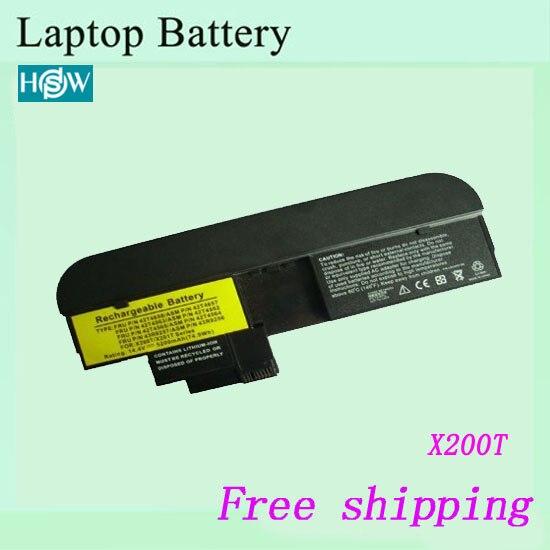 8 ячеек для IBM ThinkPad X200T 43R9257 43R9256 42T4564 ноутбук батарея